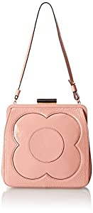 Orla Kiely Patent Leather Holly Bag,Shell Pink,One Size