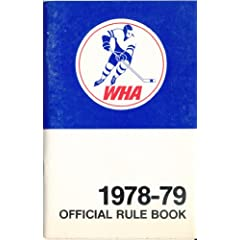 1978 Western hockey League Official Rule Book