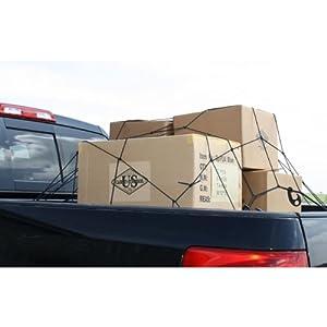 """36"""" x 48"""" Pickup Truck Cargo Net - Bungee Net w/ 12 Hooks"""