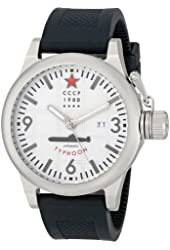CCCP Men's CP-7018-02 Typhoon Analog Display Automatic Self Wind Black Watch