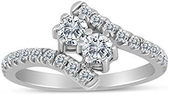 SK Jewel 1.00ctw Diamond Ring