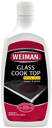 Weiman Glass Cook Top Cleaner & Polish - Heavy Duty, No Scratch, Glass-Ceramic Safe, Non-Abrasive, 20 oz. (Cooktops compare prices)