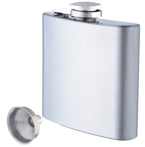 Shef Stainless Steel Hip Flask with Funnel (6oz)