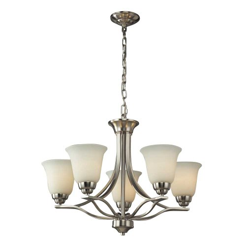Elk 11523/5 Malaga 5-Light Chandelier With Opal White