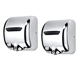 Orion Heavy Duty (2 Pack) Commercial 1800 Watts Automatic Hand Dryer - Stainless Steel