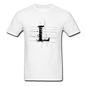 DIY Printing Heather PATELE White Letter L Architectural Style Men's T-shirt Small