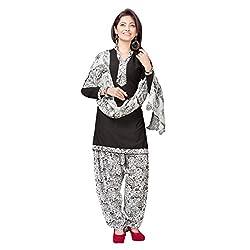 Aagaman Fashion Polyester Semistitched Salwar Suit (TSLCSK5006_Black)