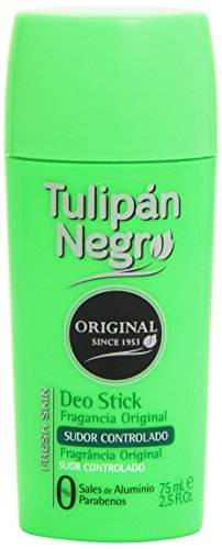 Tulipan Deodorante, Negro Original Deo Stick, 65 ml