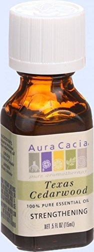 Aura Cacia 100 Percent Pure Organic Cedarwood Texas Essential Oil, 5 Ounce -- 6 per case.