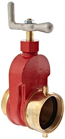 "Dixon HGV250F Brass Single Hydrant Gate Valve, 2-1/2"" NST female x NST male"