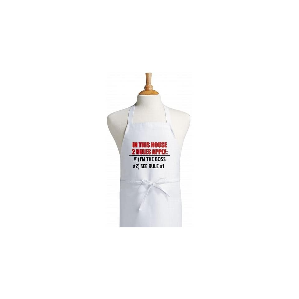 House Rules Funny Kitchen Apron on PopScreen