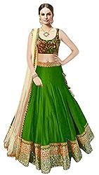 Sweety Plus Women's Bhagalpuri Silk Lehenga Choli (Pack Of 2) (Mira_004_Green_Free Size)