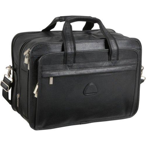 AmeriLeather Leather Practical Expandable Laptop CaseB00014EXCG