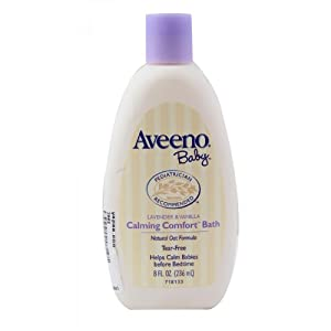 Amazon.com : Aveeno Baby Calming Comfort Bath Lavender and Vanilla