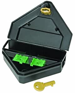 JT Eaton 907 Gold Key Mouse Depot Tamper Resistant Mini Bait Station with Solid Lid (Discontinued by Manufacturer)