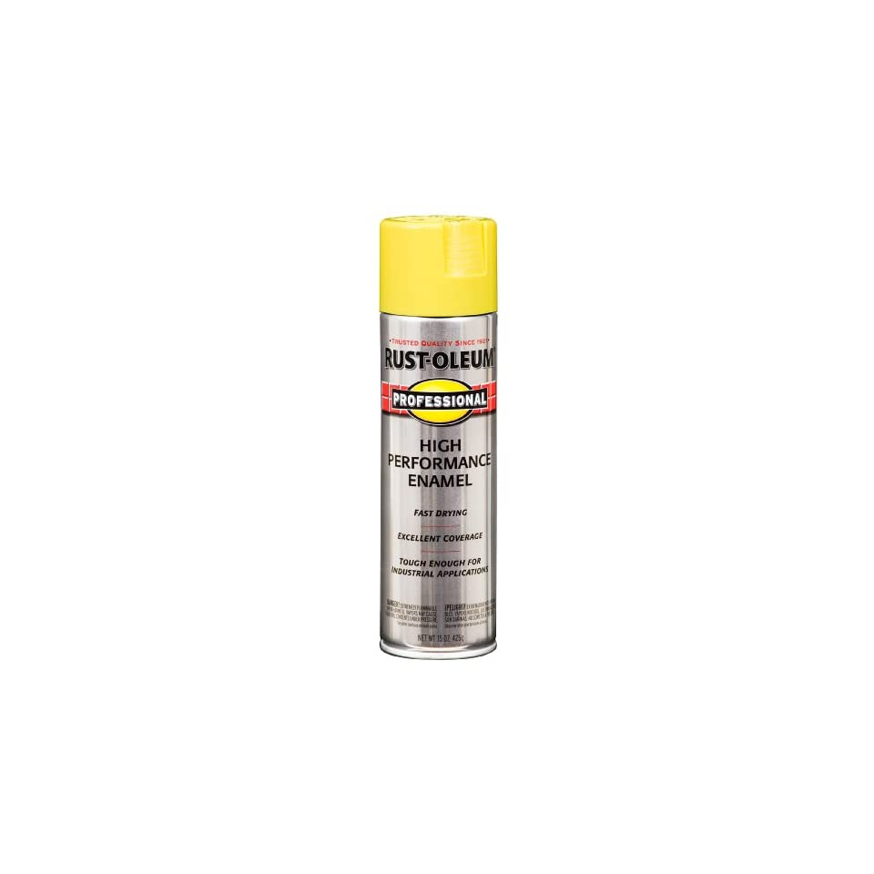 Rust Oleum 239110 Professional Spray Paint, Gloss Sunburst Yellow, 15 Ounce