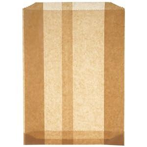 Hospeco KL Waxed Kraft Feminine Hygiene Liner Bag with Gusset (Case of