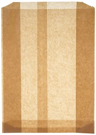 "Hospeco KL Waxed Kraft Feminine Hygiene Liner Bag with Gusset (Case of 500), 10.25"" x 7.5"" x 3.5"""