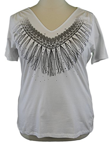 marina-rinaldi-by-maxmara-algone-white-tassel-design-v-neck-t-shirt-xl