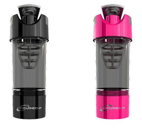 Cyclone Cup Shaker Bottle 20Oz - Set Of 2 - Black And Pink