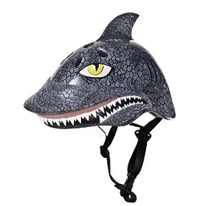 Raskullz Shark Attax Helmet (Grey, Ages 5+)