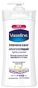 Vaseline Advanced Repair, Lightly Scented, 20.3 Ounce Bottle