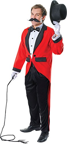 Adults Fancy Dress Party Circus Lion Tamer Ringmaster Men's Complete Costume