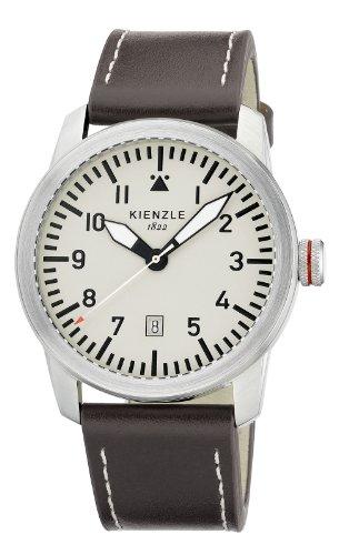 Kienzle K3081019061-00318 KIENZLE CORE - Reloj de pulsera para hombre con mecanismo de cuarzo y correa de cuero (tamaño XL)