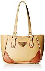 Fantosy Women's Handbag (Beige and Tan) (FNB-305)