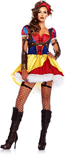 [Rebel Snow White Costume - Medium - Dress Size 8-10] (Rebel Snow White Adult Womens Costumes)