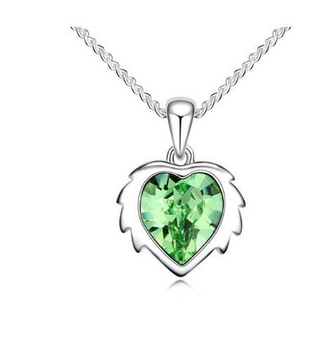 JBG Exquisite Peridot Kristall Anhänger Halskette Constellation Leo Fashion Charms Schmuck Persönlichkeit Geschenk in einem schönen Schmuckkästchen