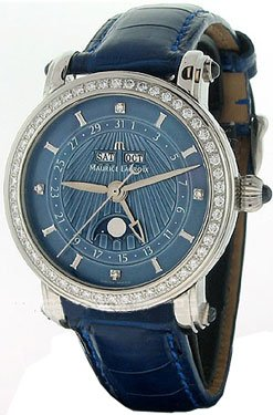 Maurice Lacroix Masterpiece Phase de Lune Dame Stainless Steel Womens Watch mp6066-sd501-37e