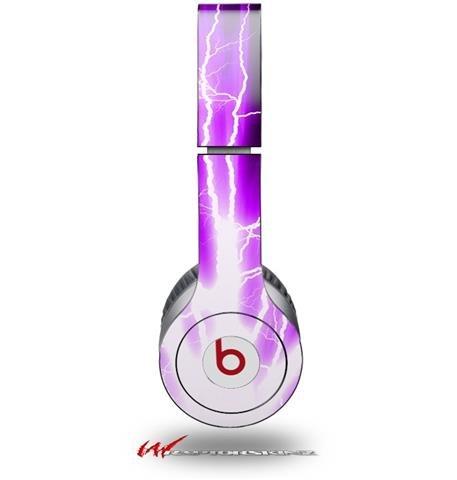 Lightning Purple Decal Style Skin (Fits Genuine Beats Solo Hd Headphones - Headphones Not Included)