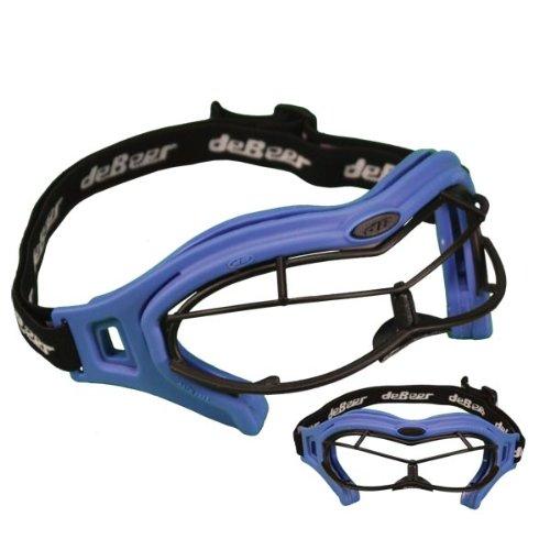 debeer-lacrosse-lucgsw-telaio-occhialini-da-donna-obiettivo-occhio-maschera-argento-nero