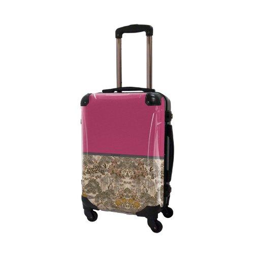 キャラート アートスーツケース ジャパニーズモダン 旅人 (ピンク) フレーム4輪 機内持込