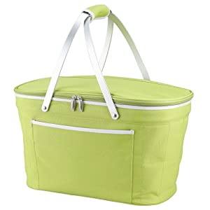 Picnic at Ascot Collapsible Basket Cooler, Apple
