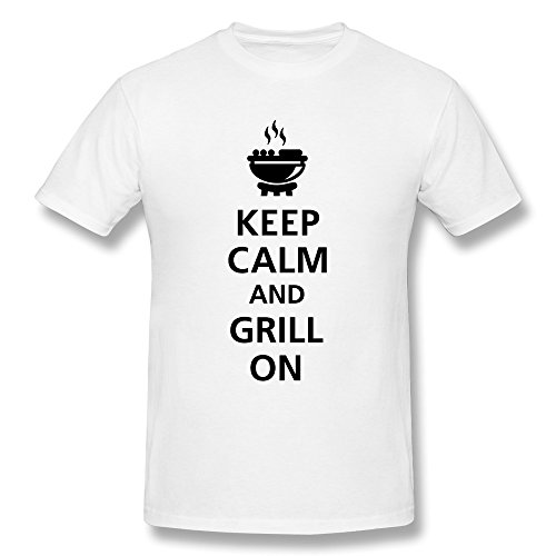 Customize Round Neck Cool Keep Calm Grill Man T Shirt