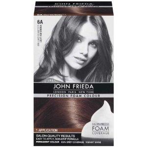 John Frieda Precision Foam Colour 6A Light Ash Brown Pack of 2