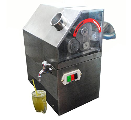 110V Automatic Commercial Sugarcane Juicer Sugar Cane Grind Press Machine Stainless Steel (Cane Juicer compare prices)
