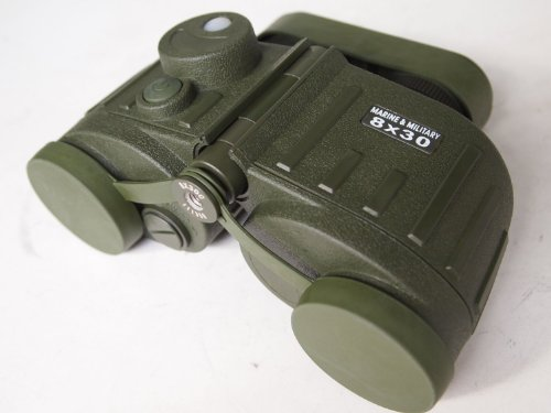 Military Marine / Nautic Binoculars 8X30 With Illuminated Compass