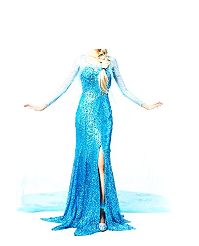 Fashion Cos Princess Snow Queen Elsa Fancy Style Dress Cosplay Costume