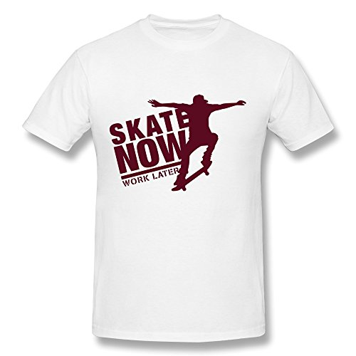 100% Cotton Awesome Skating T-Shirt For Men - Round Neck front-693431