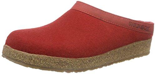 Haflinger Torben 713001, Pantofole unisex adulto, Rosso (Rot/rubin), 37