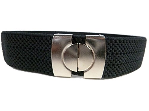 Cintura Elasticizzata per Bambini 1-11 Anni, Singolo Colore - Nero