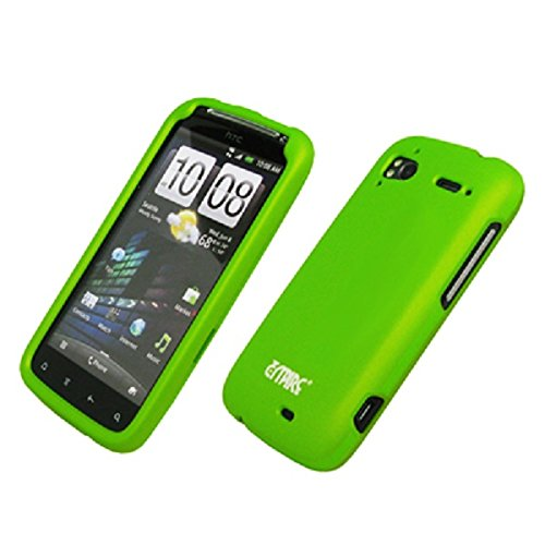 EMPIRE Neon Green Rubberized Hard Case Cover for T-Mobile HTC Sensation 4G