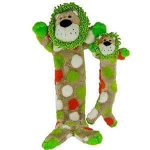 HuggleHounds Long & Lovely Barnyard Lion Dog Toy - Large