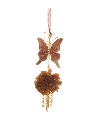 """Sage & Co. 7"""" Butterfly Tassels Ornament As You See"""