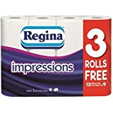 Regina Impressions 3 Ply Toilet Roll Tissue Paper - 60 rolls - packaging may vary
