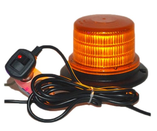 "Amber 4"" Led Beacon Strobe Rotating Spot Light Warning Signal Emergency & Safety Lighting"