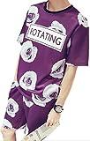【Wild Cats】メンズ セットアップ 上下 セット Tシャツ&短パン 総柄 9種 9デザイン トップス 春 夏 カジュアル オシャレ カッコいい エコバッグ付き